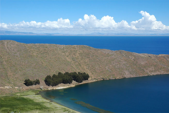 Lake Titicaca is one of the largest lakes in South America.