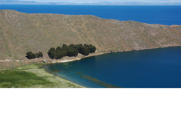 Today's Friday photo is of Lake Titicaca, located between Peru and Bolivia in South America.