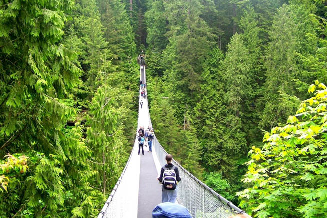Capilano Suspension Bridge is a simple suspension bridge crossing the Capilano River in the District of North Vancouver, British Columbia, Canada. CT