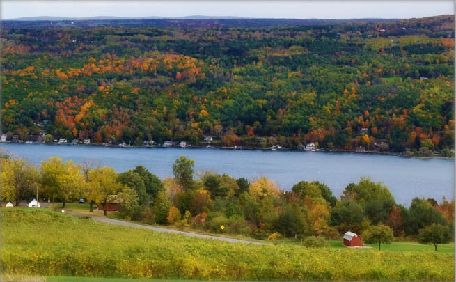 Finger Lakes are a pattern of lakes in the west-central section of Upstate New York in the United States.  CT