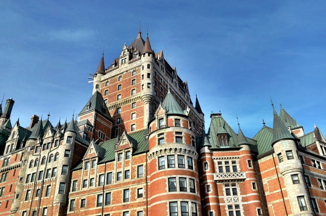 Château Frontenac is a grand hotel in Quebec City, Quebec, Canada, which is operated as Fairmont Le Château Frontenac. It was designated a National Historic Site of Canada in 1980. CT