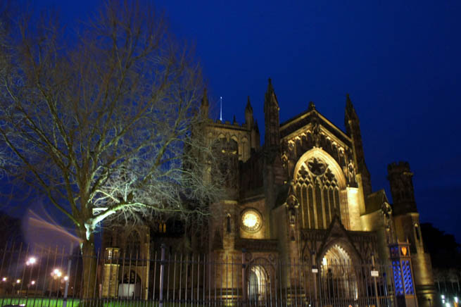 Hereford is a cathedral city, civil parish and county town of Herefordshire, England. CT