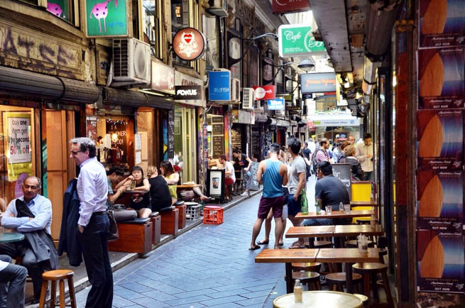 Melbourne's lanes and arcades have collectively become culturally important. The Melbourne central business district's numerous lanes mostly date to the Victorian era. CT