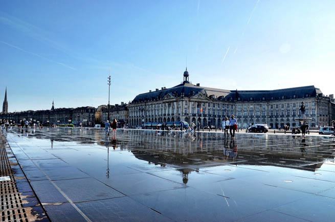 Bordeaux is a port city on the Garonne River in the Gironde department in southwestern France.