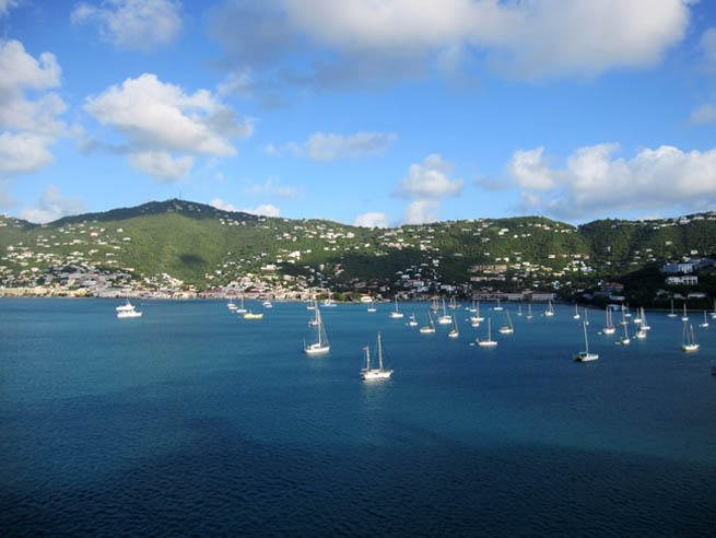 Saint Thomas is an island in the Caribbean Sea CT