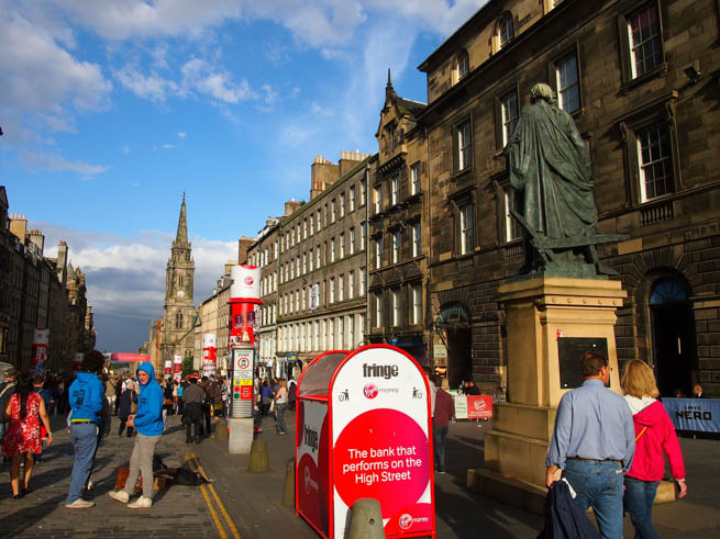 The Fringe Festival in Edinburgh, Scotland, is one of the world's largest music festivals.