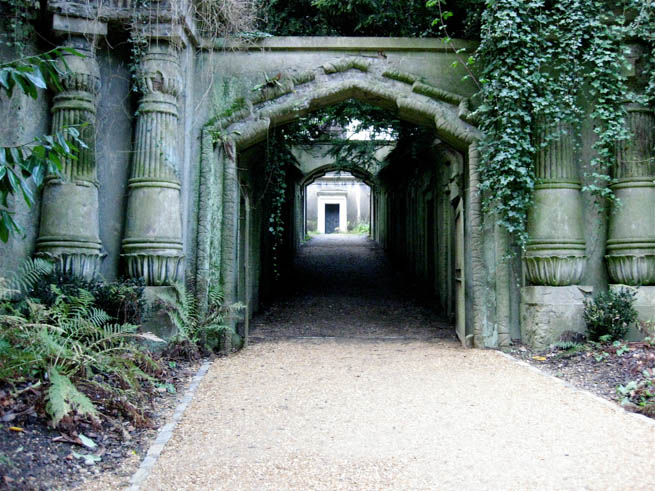 Highgate Cemetery is a place of burial in north London, England. CT