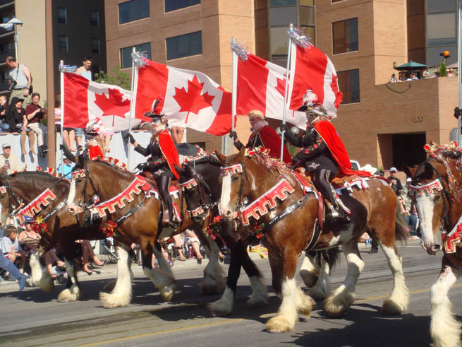 Calgary Stampede is an annual rodeo, exhibition and festival held every July in Calgary, Alberta, Canada.