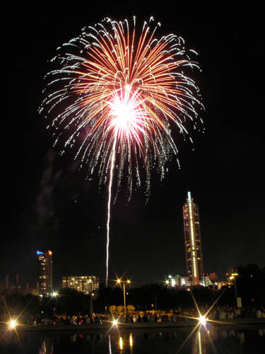 Fireworks are a class of explosive pyrotechnic devices used for aesthetic, cultural, and religious purposes. CT1
