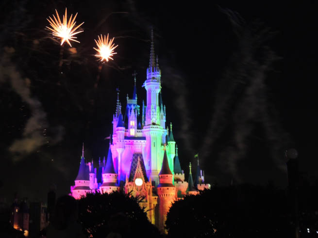 Cinderella Castle is the fairy tale castle at the center of two Disney theme parks
