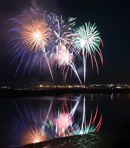 Fireworks are a class of explosive pyrotechnic devices used for aesthetic, cultural, and religious purposes. CT5