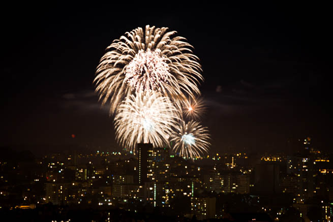Fireworks are a class of explosive pyrotechnic devices used for aesthetic, cultural, and religious purposes. CT7