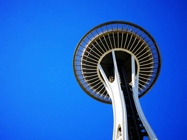 Space Needle is an observation tower in Seattle, Washington