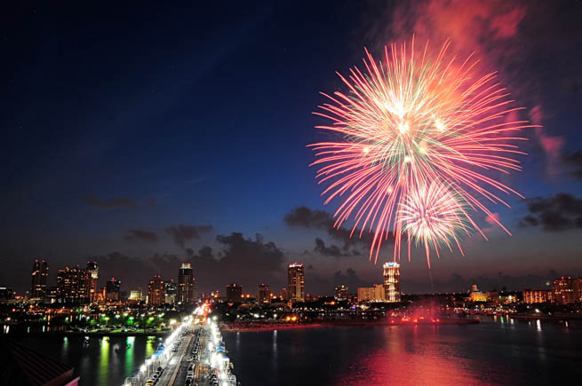 Fireworks are a class of explosive pyrotechnic devices used for aesthetic, cultural, and religious purposes. CT