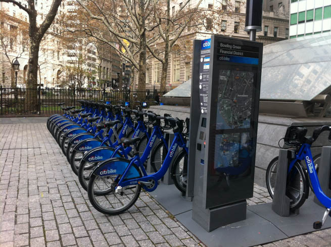 A bicycle sharing system, or bike share scheme, is a service in which bicycles are made available for shared use to individuals on a very short term basis.