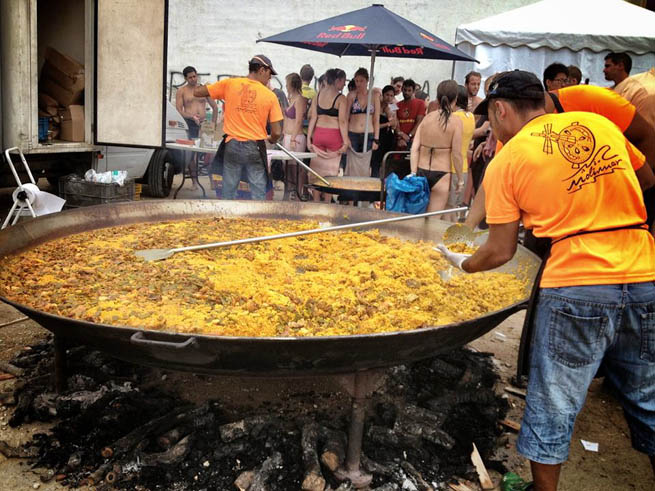 Paella is currently an internationally-known rice dish from Spain