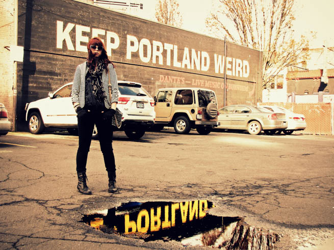 Portland is a city in the State of Oregon, near the confluence of the Willamette and Columbia rivers.