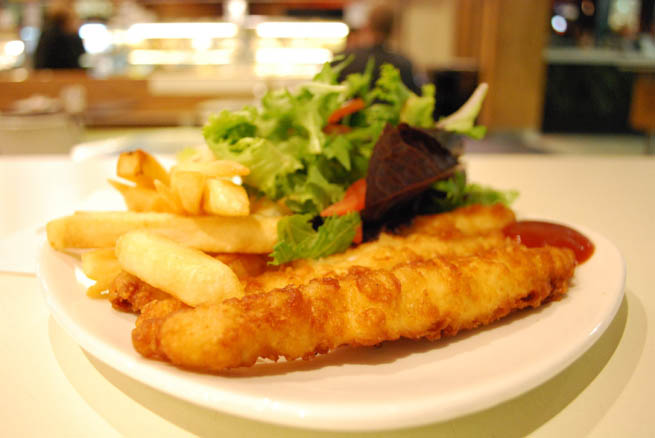 Fish and chips is a hot dish of English origin