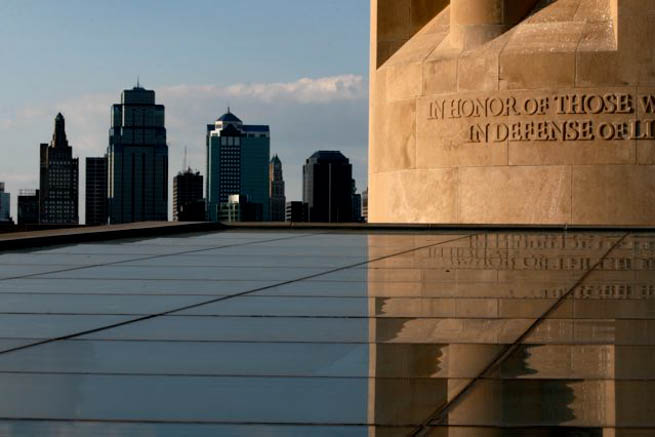 Liberty Memorial, located in Kansas City, Missouri, USA, is a memorial to the soldiers who died in World War I and houses The National World War I Museum