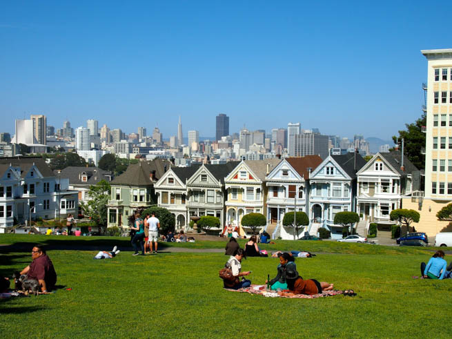 Painted ladies is a term in American architecture used for Victorian buildings painted in three or more colors