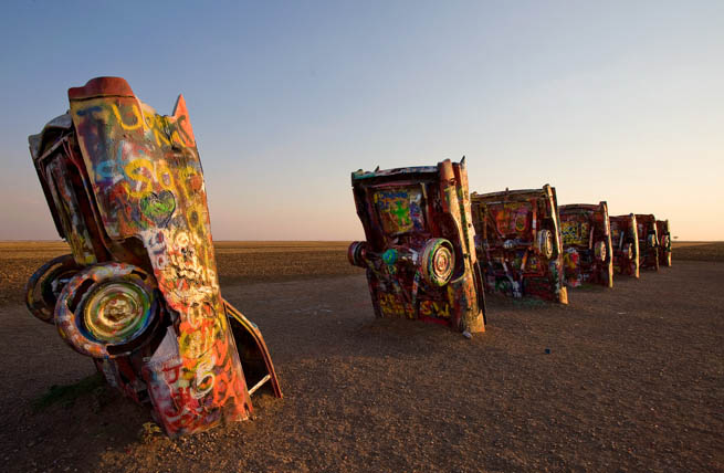 Cadillac Ranch is a public art installation and sculpture in Amarillo, Texas CT