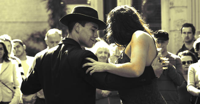 Tango is a partner dance that originated in the 1890s along the Río de la Plata, the natural border between Uruguay and ArgentinaT