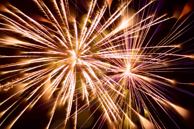 Fireworks are a class of explosive pyrotechnic devices used for aesthetic, cultural, and religious purposes
