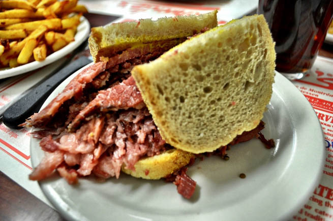Pastrami is a popular Jewish delicatessen meat usually made from beef