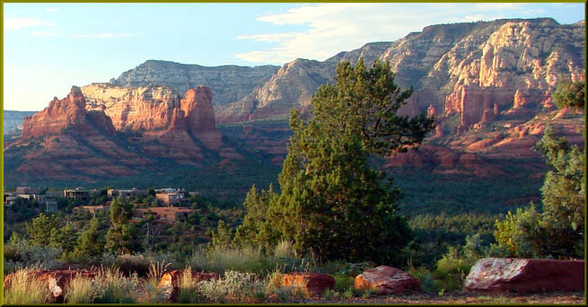 Sedona is a city that straddles the county line between Coconino and Yavapai counties in Arizona.