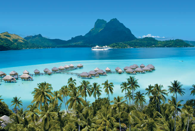 Bora Bora is an island in the Leeward group of the Society Islands of French Polynesia