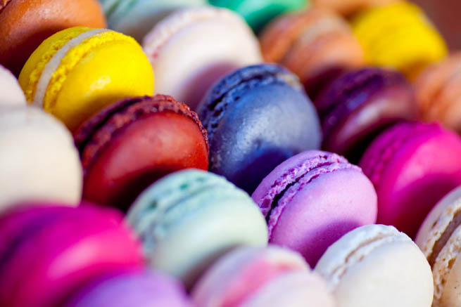 Macaron is a French sweet meringue-based confection CT