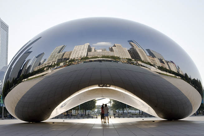 Cloud Gate is a public sculpture by Indian-born British artist Anish Kapoor