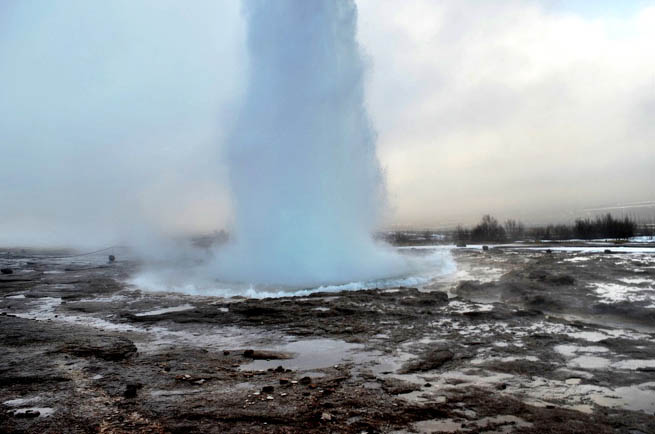 Geysir, sometimes known as The Great Geysir, is a geyser in southwestern Iceland