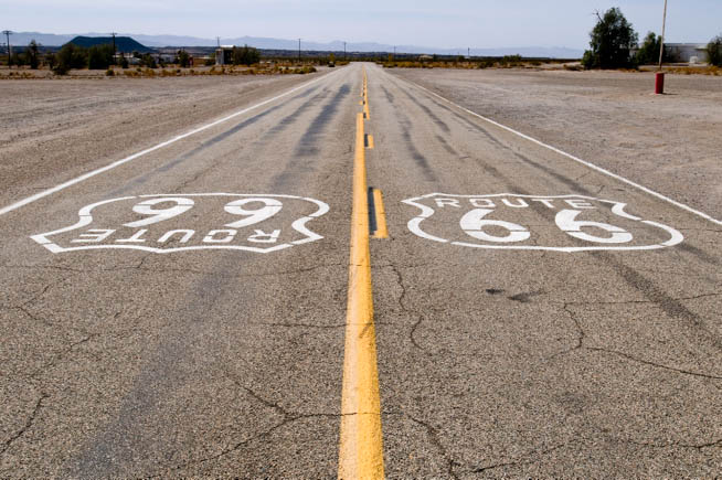 U.S. Route 66, also known as the Will Rogers Highway and colloquially known as the Main Street of America or the Mother Road, was one of the original highways within the U.S. Highway System
