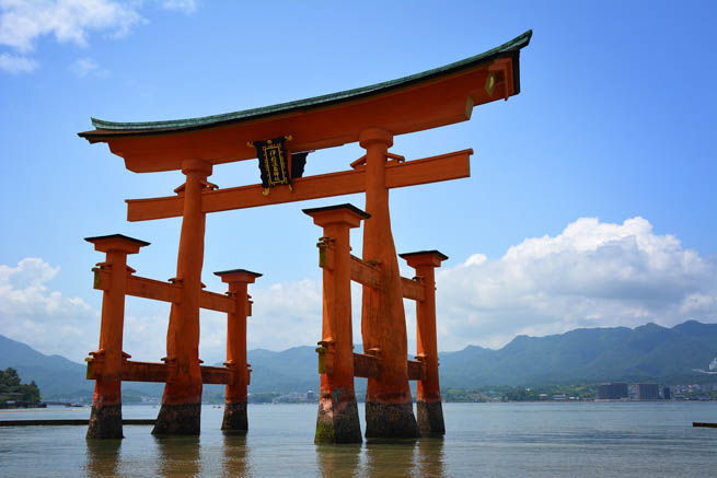 torii is a traditional Japanese gate most commonly found at the entrance of or within a Shinto shrine