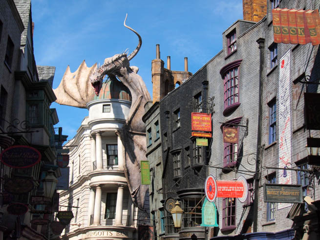 Diagon Alley is a cobbled wizarding alley and shopping area located in Universal StudiosCT