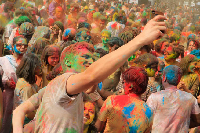Holi is a spring festival, also known as the festival of colours or the festival of love CT