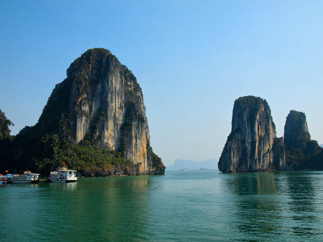 Hạ Long Bay is a UNESCO World Heritage Site, and a popular travel destination, in Quảng Ninh Province, Vietnam CT