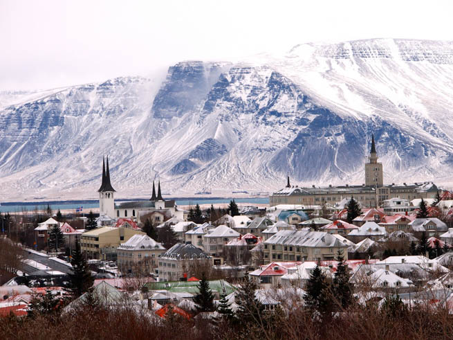 Reykjavik is Iceland's coastal capital CT