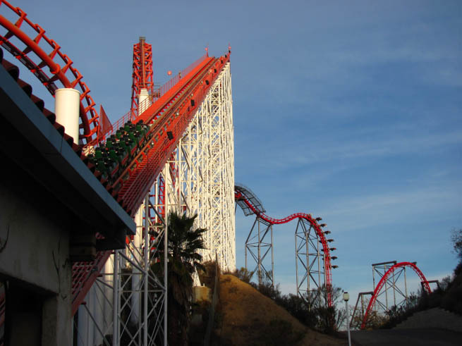 Six Flags Magic Mountain is a 262-acre theme park located in Valencia, California CT