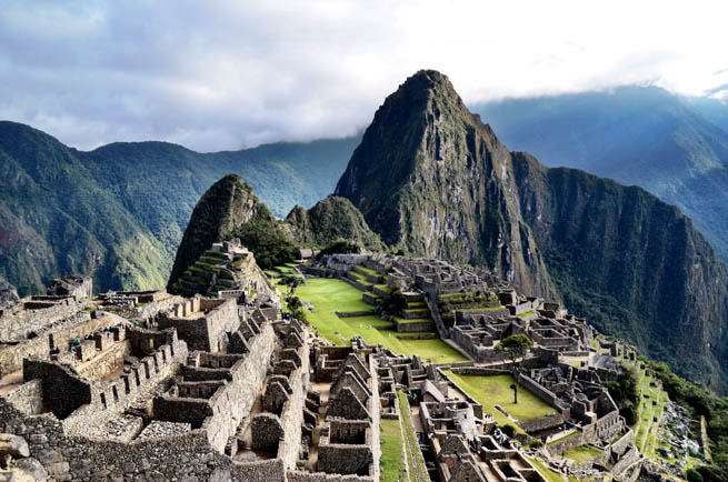 Machu Picchu is an Incan citadel set high in the Andes Mountains in Peru CT