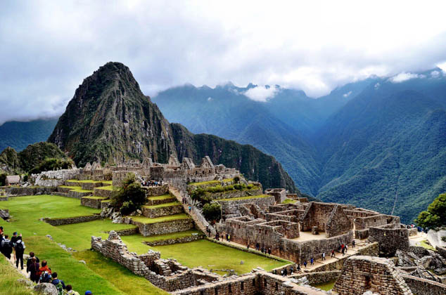 Machu Picchu is an Incan citadel set high in the Andes Mountains in Peru FT