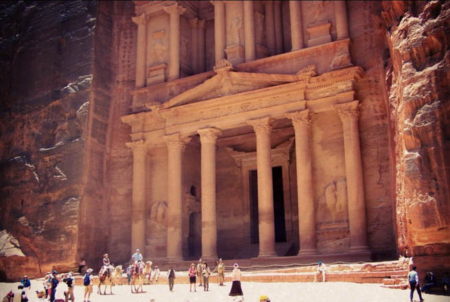 Petra is a historical and archaeological city in the southern Jordanian governorate of Ma'an CT