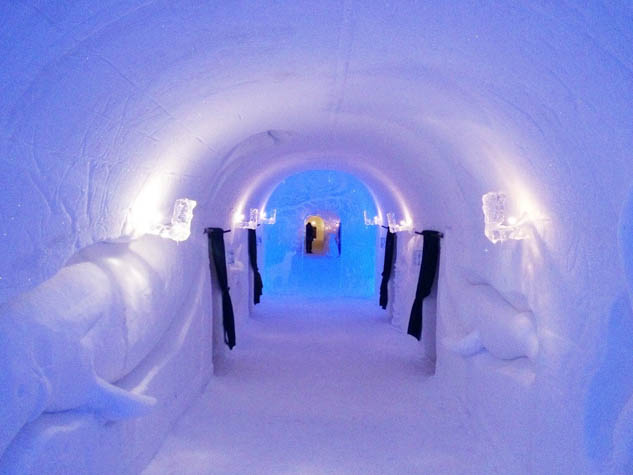 Stay cool this winter by staying at one of these unusual ice hotels around the world.