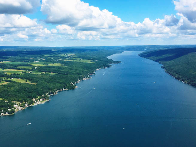 Finger Lakes are in New York CT