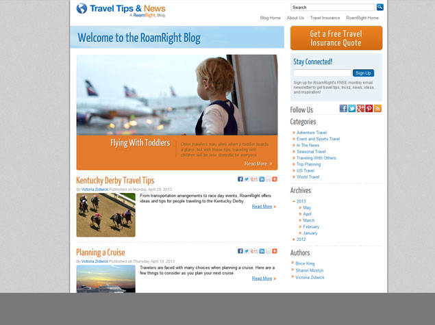 Travel Tips and News, the RoamRight blog, is excited to show off our new design and has an exciting announcement.