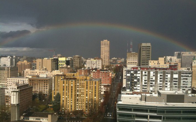 Rainbow Over Seattle