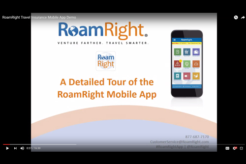 Take a tour of the RoamRight mobile app