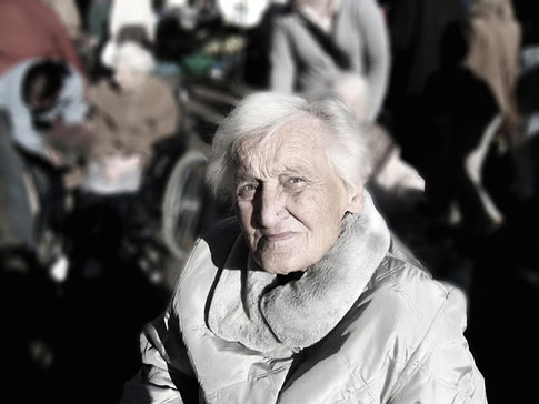 An elderly woman looks forward to traveling to Norway.