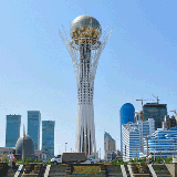Kazakhstan might seem like it is a vast dry desert, but behind all that sand and dry vegetation hides a vast number of unique historical sights, snow-capped peaks, beautiful golden plains, lakes, and even glaciers.